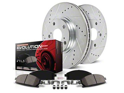 Power Stop Z23 Evolution Sport Brake Rotor & Pad Kit - Front (05-14 V6)