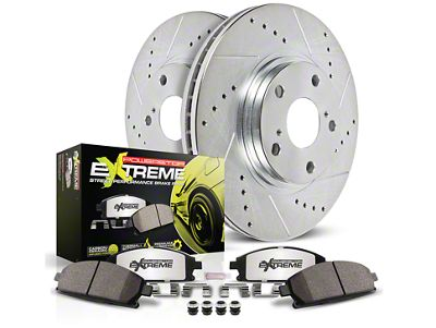 Power Stop Z26 Street Warrior Brake & Rotor Pad Kit - Front (1993 Cobra)
