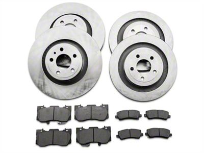 Power Stop OE Replacement Brake Rotor & Pad Kit - Front & Rear (15-19 Standard GT, EcoBoost w/ Performance Pack)