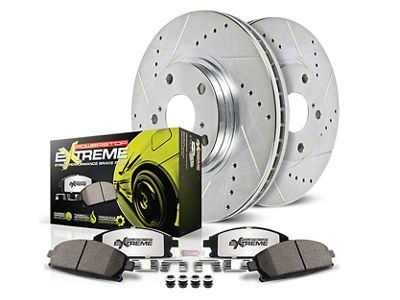 Power Stop Z26 Street Warrior Brake & Rotor Pad Kit - Front (15-19 Standard GT, EcoBoost w/ Performance Pack)