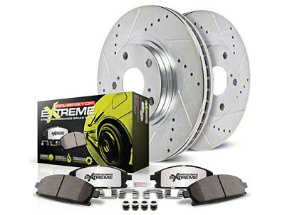 Power Stop Z26 Street Warrior Brake & Rotor Pad Kit - Front & Rear (15-19 Standard GT, EcoBoost w/ Performance Pack)