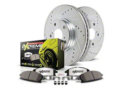 Power Stop Z26 Street Warrior Brake Rotor & Pad Kit - Rear (05-14 All, Excluding 2012 GT500)