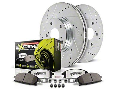 Power Stop Z26 Street Warrior Brake & Rotor Pad Kit - Rear (15-19 GT, EcoBoost, V6)