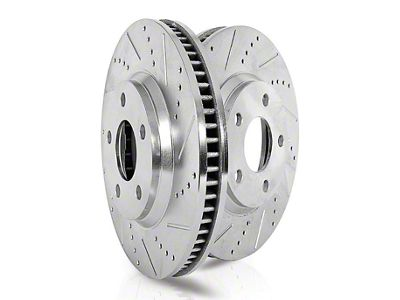 Power Stop Evolution Cross-Drilled & Slotted Rotors - Front Pair (13-14 GT500)