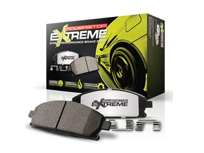 Power Stop Z26 Extreme Street Carbon-Ceramic Brake Pads - Front Pair (15-19 Standard GT, EcoBoost w/ Performance Pack)