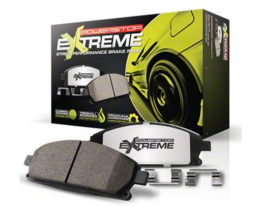 Power Stop Z26 Extreme Street Carbon-Ceramic Brake Pads - Front Pair (15-19 Standard EcoBoost, V6)