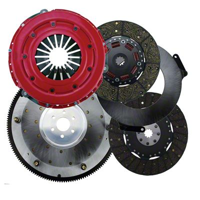 RAM Force Dual Disc 10.5 Clutch w/ 6 Bolt Steel Flywheel - 10 Spline (05-10 GT)