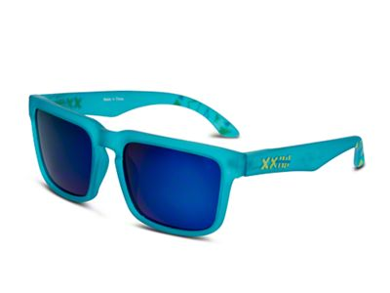 RTR VGRJ Signature Sunglasses - Blue/Blue Triangles