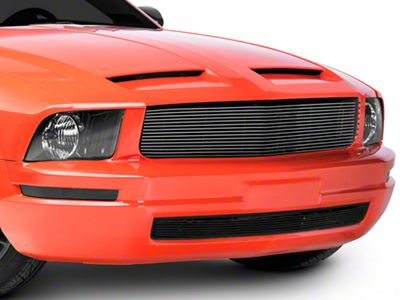 T-REX Billet Pony Delete Upper Grille - Polished (05-09 V6)