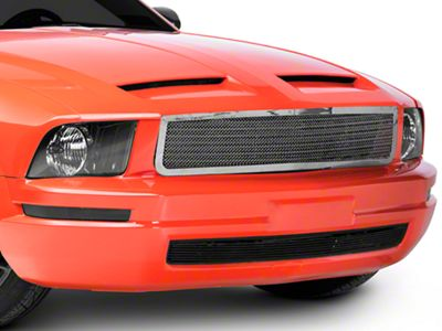 T-REX Upper Class Pony Delete Mesh Upper Grille - Polished (05-09 V6)