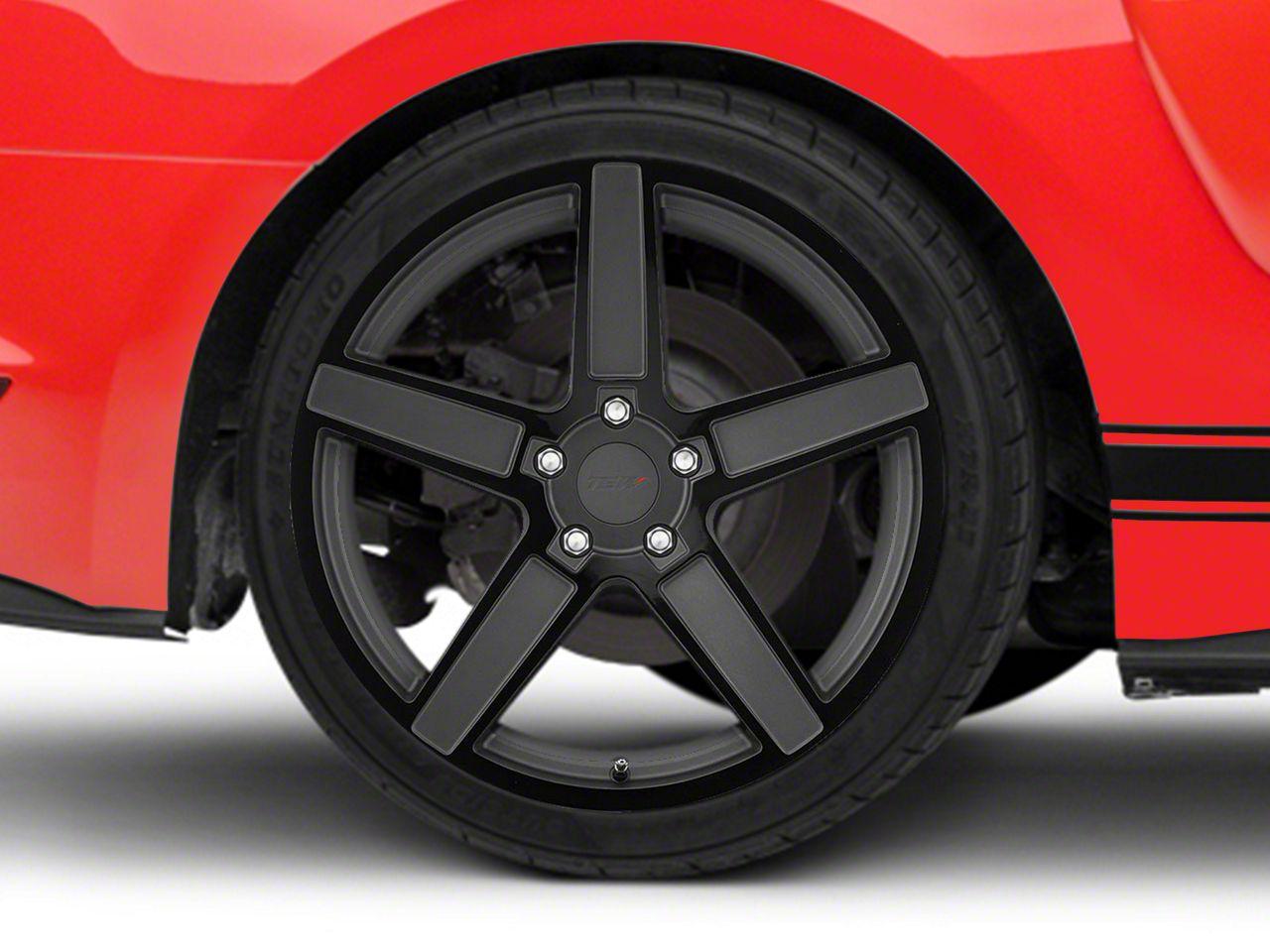 TSW Ascent Matte Gunmetal w/ Gloss Black Face Wheel - 20x10 (15-19 EcoBoost, V6)