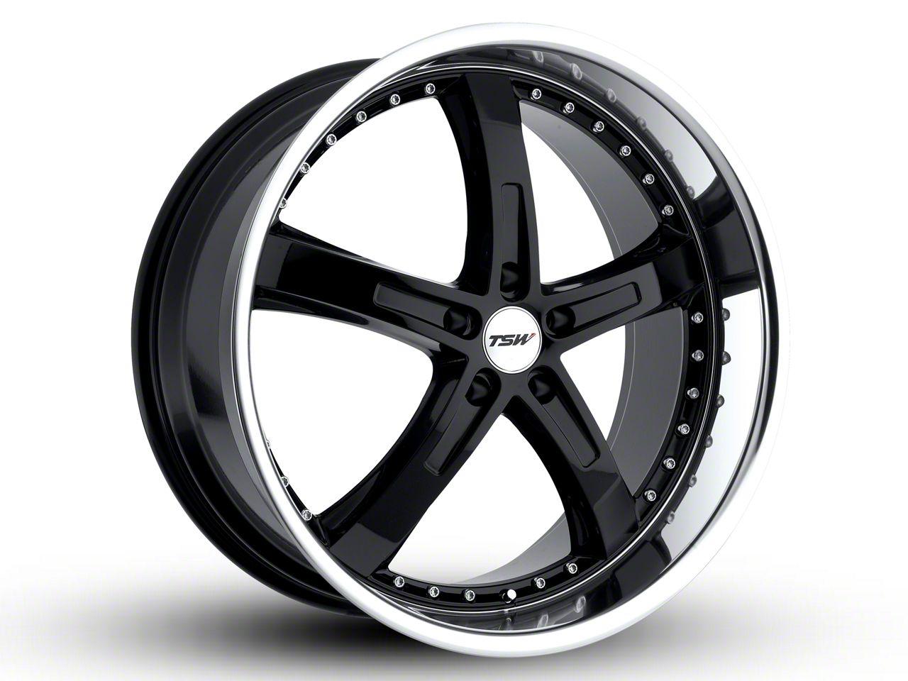 TSW Jarama Gloss Black w/ Mirror Cut Lip Wheel - 20x10 (15-19 EcoBoost, V6)