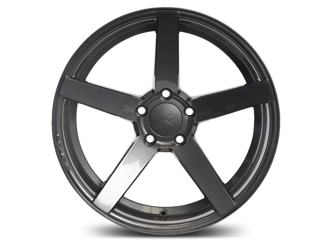 Rovos Staggered Durban Gloss Gunmetal Wheel & Nitto INVO Tire Kit - 18x9/10.5 (94-04 All)