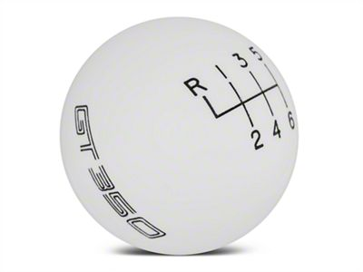 Ford Performance 6-Speed Shift Knob w/ GT350 Logo - White (15-19 GT350)