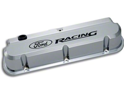 Ford Performance Slant Edge Valve Cover - Chrome (79-93 289, 302, 351W)