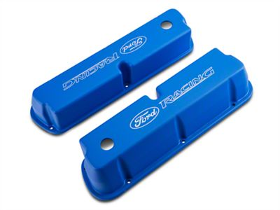 Ford Performance Aluminum Valve Cover w/ Ford Racing Logo - Blue (79-93 289, 302, 351W)