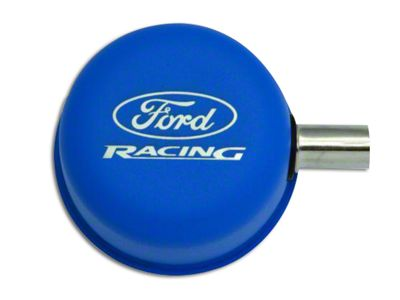 Ford Performance Blue Breather Cap w/ Ford Racing Logo - Closed Crankcase Design (79-93 289, 302, 351W)