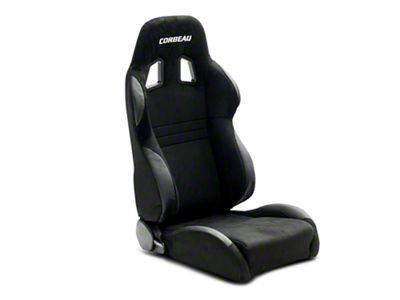 Corbeau A4 Wide Racing Seat - Black Microsuede - Pair (79-19 All)