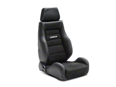 Corbeau GTS II Reclining Seat - Black Leather/Microsuede - Pair (79-19 All)