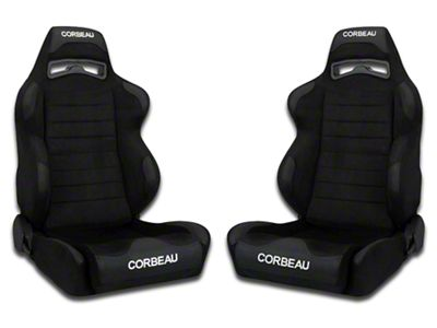 Corbeau LG1 Wide Racing Seat - Black Microsuede - Pair (79-19 All)
