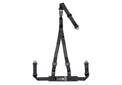 Corbeau 2 in. 3-Point Double Release Bolt-In Harness Belt - Black (79-19 All)