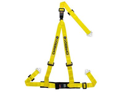 Corbeau 2 in. 3-Point Double Release Snap-In Harness Belt - Yellow (79-18 All)