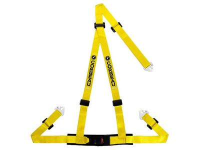 Corbeau 2 in. 3-Point Snap-In Harness Belt - Yellow (79-18 All)