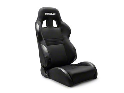 Corbeau A4 Wide Racing Seat - Black Cloth - Pair (79-19 All)