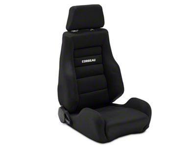 Corbeau GTS II Reclining Seat - Black Cloth (79-19 All)