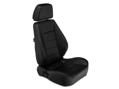 Corbeau Sport Seat Reclining Seat - Black Vinyl - Pair (79-19 All)
