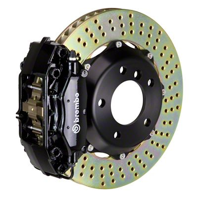 Brembo GT Series 4-Piston Front Brake Kit - Cross Drilled Rotors - Black (05-14 GT, V6)