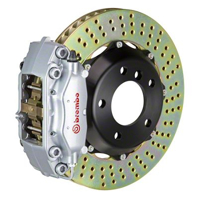 Brembo GT Series 4-Piston Front Brake Kit - Cross Drilled Rotors - Silver (05-14 GT, V6)