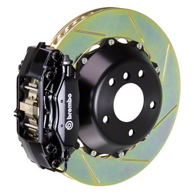 Brembo GT Series 4-Piston Front Brake Kit - Slotted Rotors - Black (05-14 GT, V6)