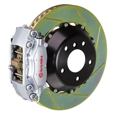 Brembo GT Series 4-Piston Front Brake Kit - Slotted Rotors - Silver (05-14 GT, V6)