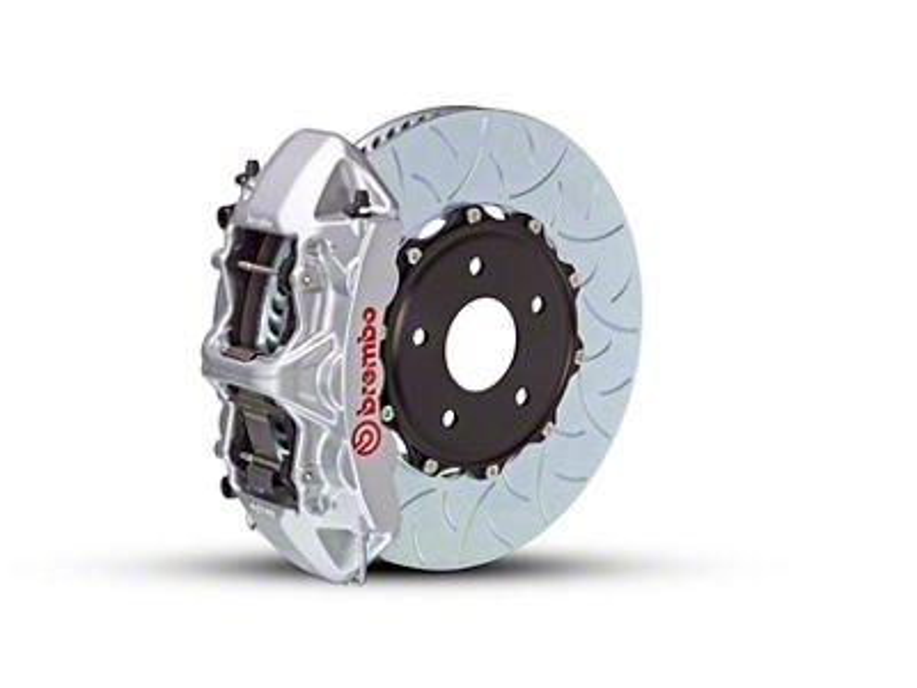 Brembo GT Series 6-Piston Front Brake Kit - Type 3 Rotors - Silver (15-19 EcoBoost, V6)