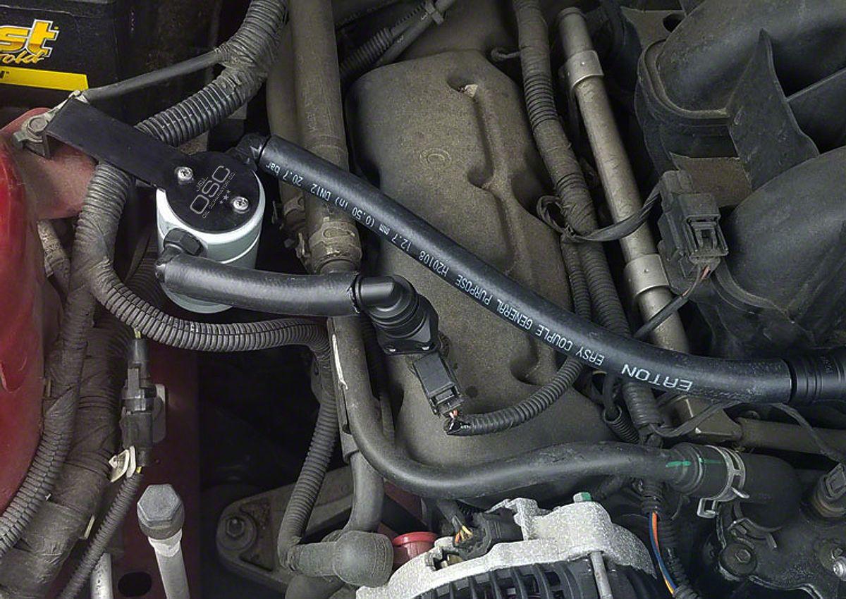 JLT V3.0 Satin Oil Separator - Passenger Side (05-10 V6)