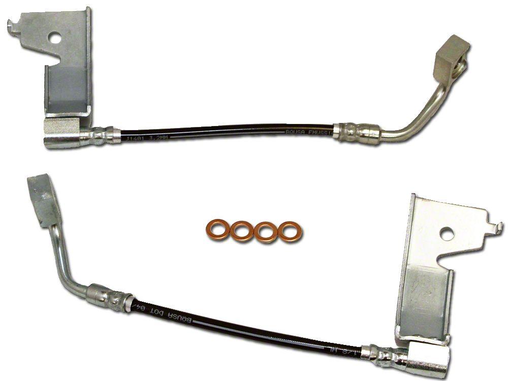 J&M Stainless Steel Teflon Brake Lines - Rear (94-95 GT, Cobra)