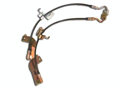 J&M Clear Outer Coating Stainless Steel Telfon Brake Lines - Front & Rear (99-04 Cobra)