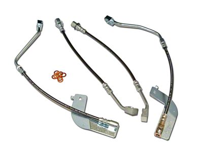 J&M Stainless Steel Teflon Brake Lines - Front & Rear (99-04 All, Excluding Cobra)