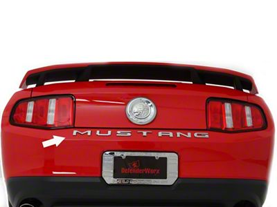 Defenderworx Chrome MUSTANG Trunk Letters (79-19 All)