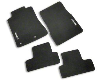 Roush Embroidered Front & Rear Floor Mats - Black (2010 All)