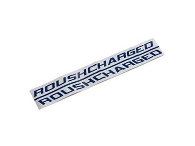 Roush ROUSHcharged Hood Scoop Decal - Blue (05-09 All)