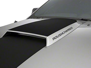 Roush ROUSHcharged Hood Scoop Decal - Silver (05-09 All)