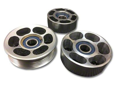 SHR Tru-Billet Idler Pulleys - Silver Anodized (05-10 V6)