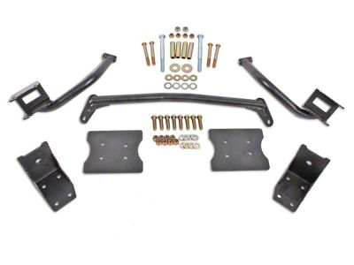 BMR Torque Box Reinforcement Plate Kit - Hammertone (79-04 All)