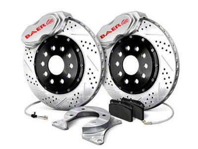 Baer SS4 Plus Rear 4-Lug Brake Kit - Silver (79-93 All)