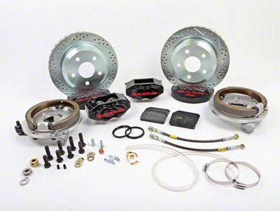 Baer SS4 Rear 5-Lug Brake Kit - Black (79-93 All)