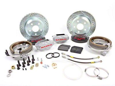 Baer SS4 Rear 5-Lug Brake Kit - Silver (79-93 All)
