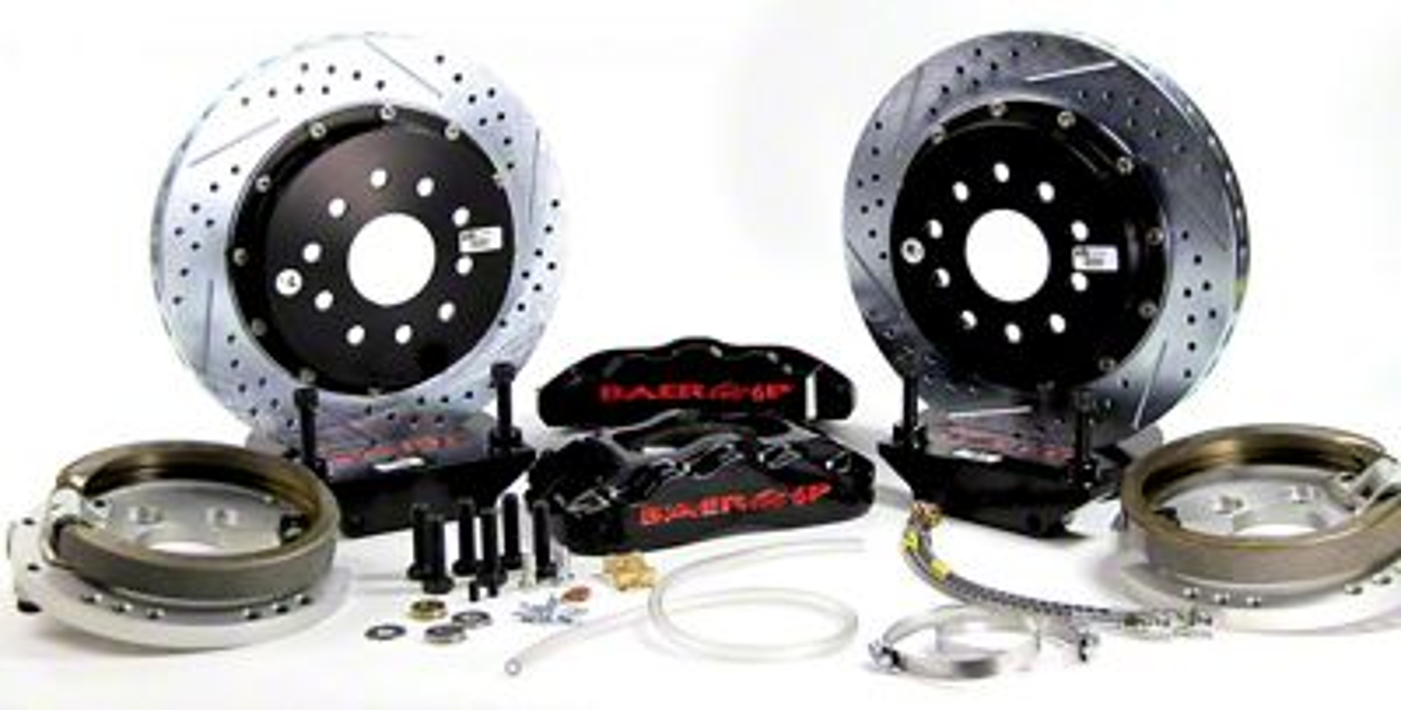 Baer Pro Plus Rear 4-Lug Brake Kit w/ 13 in. Rotors - Black (79-93 All)