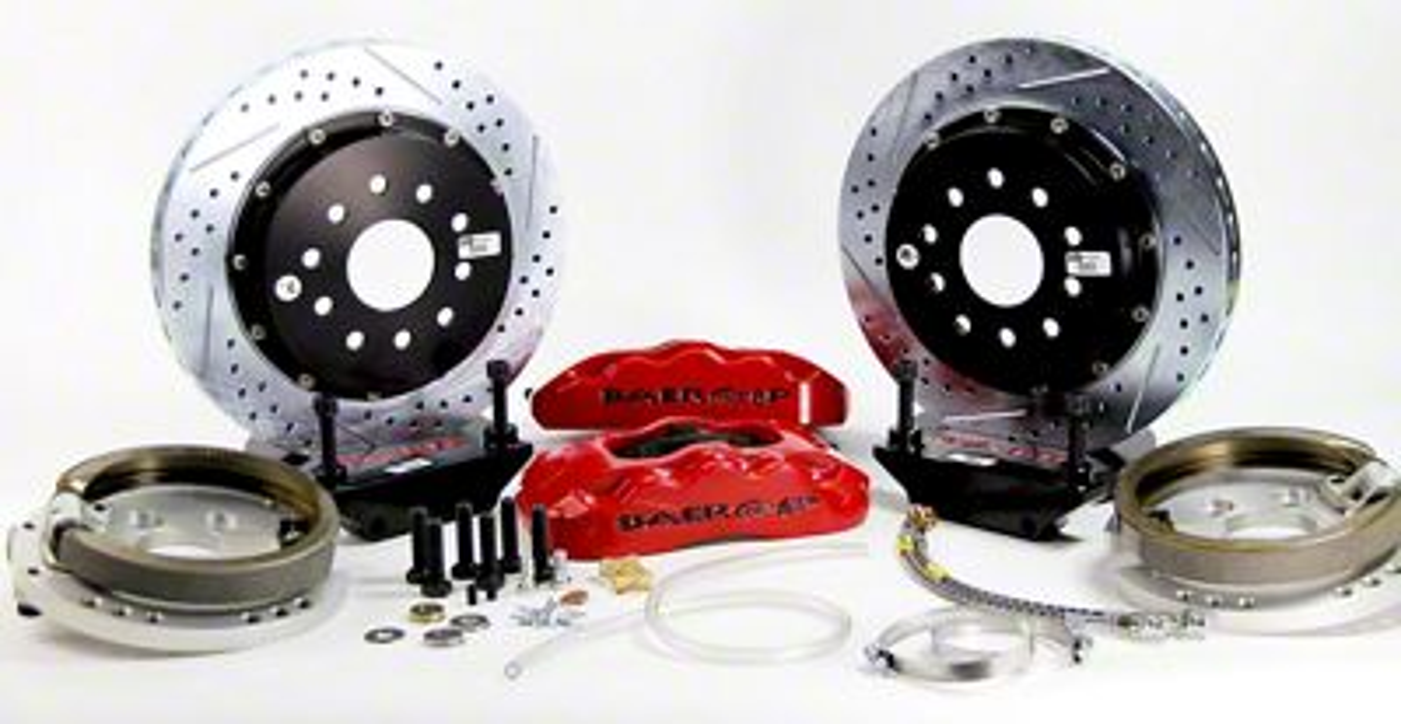 Baer Pro Plus Rear 4-Lug Brake Kit w/ 13 in. Rotors - Red (79-93 All)